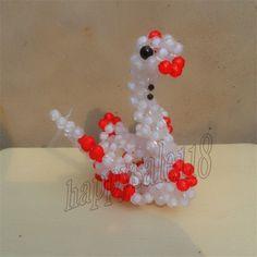 Creative beadwork Swan 2PCS for kids 3D beading Car/Home/Desktop decor Handmade