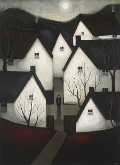 John Caple - John Martin GalleryAt the Crossroads (right) 2012 Mixed media on board 43¼ x 31 ins, (109.98 x 78.97 cms)