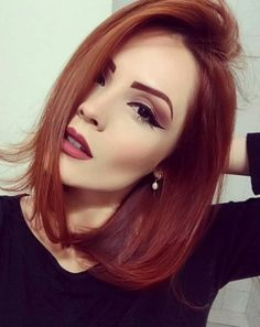 Red and Strawberry Blonde Bob - 60 Trendiest Strawberry Blonde Hair Ideas for 2019 - The Trending Hairstyle Red Blonde Hair, Short Red Hair, Strawberry Blonde Hair, Short Wedding Hair, Wedding Hairstyle, Prom Hairstyles For Long Hair, Short Hairstyles For Women, Gorgeous Hairstyles, Woman Hairstyles