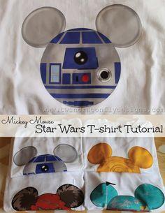 Mickey Mouse Star Wars T-shirt Tutorial - seven thirty three
