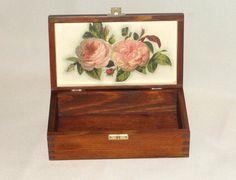 Деревянный ящик. Хранение box.Treasury окно. Роуз. по DecoupageMargaret