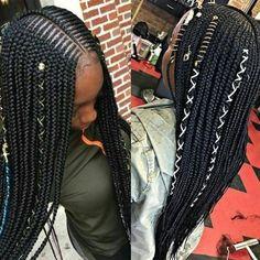 Cute Braided Hairstyles, Black Girl Braids, Braided Hairstyles For Black Women, Braids For Black Hair, Girls Braids, Weave Hairstyles, Hairstyles 2018, Braids Hairstyles Pictures, African Braids Hairstyles
