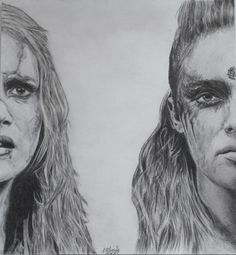 clark and lexa 100 | Drawing therapy. (Jason Rothenberg)
