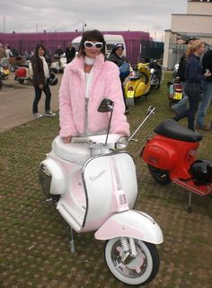 Mod girl and her scooter at Isle Of Wight scooter rally 2010 # # #