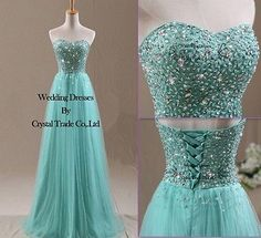 Beading Formal Bridesmaid Dresses Party Evening Prom Dresses Ball Gown in Clothing, Shoes & Accessories, Wedding & Formal Occasion, Bridesmaids' & Formal Dresses Formal Bridesmaids Dresses, Cute Prom Dresses, Tulle Prom Dress, Dance Dresses, Ball Dresses, Pretty Dresses, Homecoming Dresses, Ball Gowns, Formal Dresses
