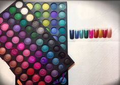 How to give color to the nail with #eyeshadow #nailart #manicure #unghie #ombretti #fashion