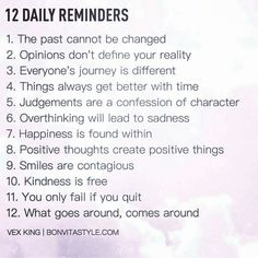 """12 Daily Reminders"""