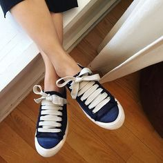 we love a good #PedroGarcia sneaker. especially in gorgeous blue satin. #newarrivals