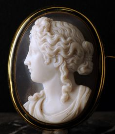 An 19th century agate cameo of Aphrodite.