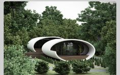 Home in the woods Feng Shui Architecture, Landscape Architecture, Interior Architecture, Beautiful Architecture, Beautiful Buildings, Shell House, Art And Technology, Googie, Modular Homes