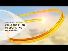 Using the Align to Spline Tag with Xpresso in Cinema 4D - YouTube