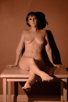 Female artistic nude fine art infrared sepia photo print - wall art home decor - Warmth of a different light 05
