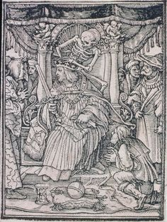 Hans Holbein, the Younger (German, 1497 or 1498–1543) Dance of Death; The emperor | Museum of Fine Arts, Boston