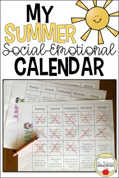 Summer Social-Emotional Calendar, reinforces the skills from classroom guidance lessons, all summer long! Students can reflect on and complete tasks related to character education, social skills, friendship skills, anger management, career exploration, and more!