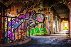 Shop Graffiti Street Art Abandoned Building Staircase Poster created by Magical_Maddness. Personalize it with photos & text or purchase as is! Graffiti Canvas Art, Canvas Art Prints, Canvas Pictures, Print Pictures, Create Your Own Wallpaper, Street Art, Standard Wallpaper, Poster Art, Lost