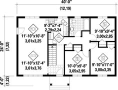 First Floor Plan of House Plan 52490
