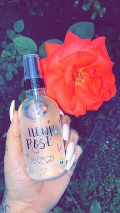 Our Hemp Rose Refreshing Facial Mist is loaded with anti-oxidant skin perfecting botanicals. 3oz glass bottle