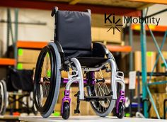 This week's Ki Mobility featured frame is this Silver Rogue with our Purple Anodizing package. Who's a fan of this color combination? Visit www.kimobility.com to view our current color options on our full selection of pediatric & adult manual wheelchairs. #KiMobility #BetterByDesign #FunFrameFriday #Silver #Purple #PurpleAnodizing #ManualWheelchair #Wheelchairs #Colorful