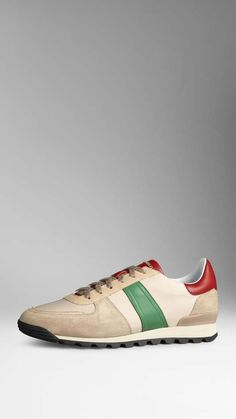Burberry | Suede and Leather Trainers #burberry #trainers