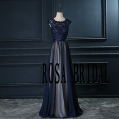 Navy blue bridesmaid dress Cap sleeve bridesmaid von rosabridal