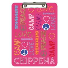 Camp Jumble Clipboard for writing notes from Camp! #FindItAtNoteworthyNotes #campready