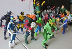 Marvel & DC Comics Justice League Unlimited  X-Men figures Lot Superheroes  #DCComicsMarvel