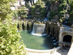 Fountains on the Villa at Tivoli