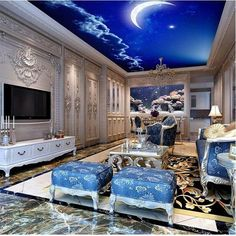 living bedroom sky night rooms sofa ceiling decorating chic architecture sea homes