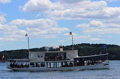 The Steam Yacht Louise. Lake Geneva Wisconsin. Lake Geneva Cruise Line Boat.