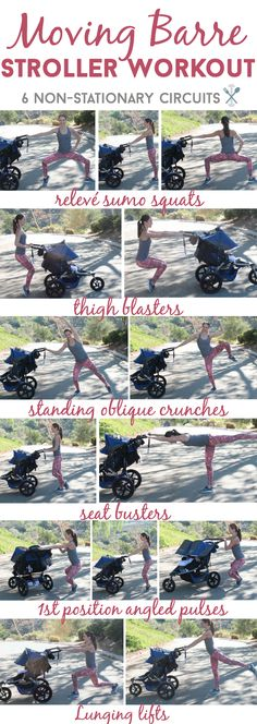 This barre-inspired stroller workout keeps the kids constantly moving and mom toning and sculpting. A workout you NEED to try! #sponsored