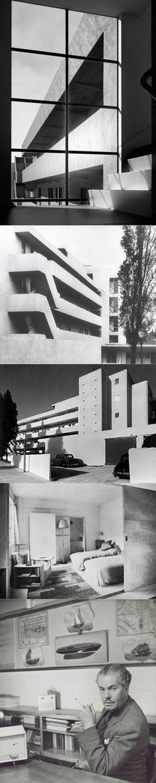 1933-1934 Wells Coates - Lawn Road Flats / Hampstead London / Isokon Building / concrete / white