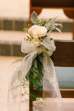 Designed by Julie Miner Events| Photography by Kati Rosado Photography| Ascension Catholic Church| Ceremony Flowers| Wedding Flowers| Isle Decor| Florida Weddings