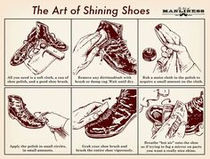 The art of shining shoes - The Art of Manliness