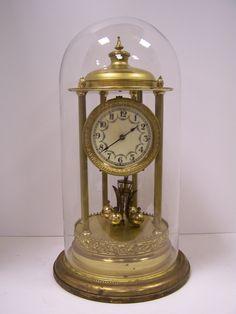 C275 - Grand Kieninger & Obergfell 400 Day Torsion / Anniversary Clock c.1930's - The Old Time Watch & Clock Shop