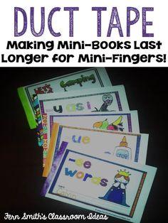 Getting Ready for Next Year? Tips for Making Mini-Books Last Longer! #TeachersFollowTeachers