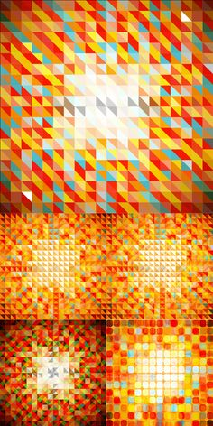 色彩马赛克背景矢量素材