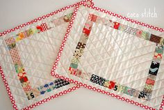 "patchwork place mat | size : 16"" x 11 3/4"" 