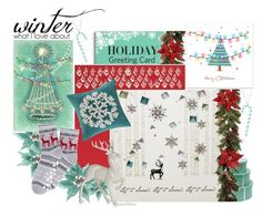 """""""Holiday Card"""" by ana3blue ❤ liked on Polyvore featuring art and holidaycard"""