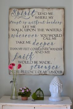Spirit lead me || wood sign by Aimee Weaver Designs