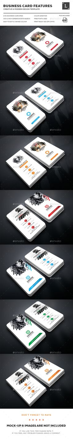 Photography Business Cards Bundle Templates PSD. Download here…
