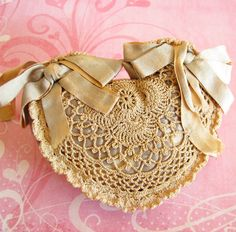 Fancy Frill...Beautiful Antique Crochet Pincushion
