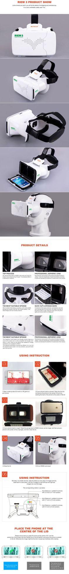 Ritech III RIEM3 3D VR Glasses Virtual Reality Headset