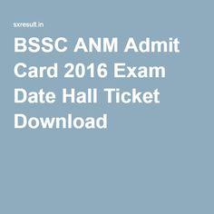 BSSC ANM Admit Card 2016 Exam Date Hall Ticket Download
