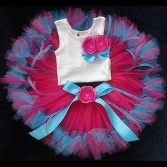 Tutu Petti Tutu Flower Shirt Set  Baby Tutu by StrawberrieRose, $89.95