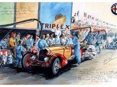 24h LE MANS 1933 - ALFA ROMEO 8c 2300  #11 - Tazio Nuvolari - Raymond Sommer