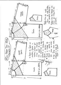 Raglan kollu ve kesikli bluz - Marlene Mukai T Shirt Sewing Pattern, Easy Sewing Patterns, Pattern Drafting, Sewing Lessons, Sewing Class, Sewing Hacks, Blouse Patterns, Clothing Patterns, Sewing Clothes