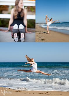 http://GilmoreStudios.com Newport Beach, CA, Dance photographer, Dance Portrait Photo, Orange County, Ballet, Tap, Contemporary Photographer, Gilmore Studios, Beach, Wave, Ocean, Leap, Dance, Tap Shoes