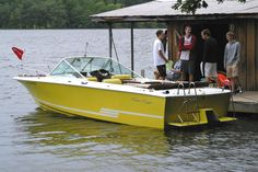 A new, old Chris Craft crowd discovers the 1978 Lancer 23 Overnighter, here on Lake Lanier in August 2013.
