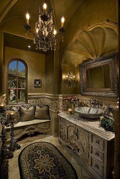 Custom Powder Bathroom Designed & Built by Fratantoni Luxury Estates. www.Facebook.com/FratantoniLuxuryEstates