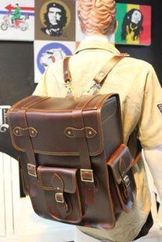 handmade BACKPACK real  leather oldschool design